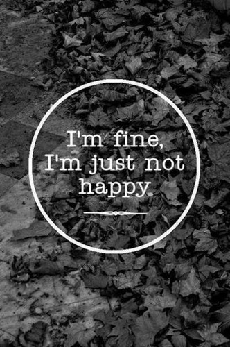 Quotes wallpaper probably containing a sign entitled                   I'm Fine