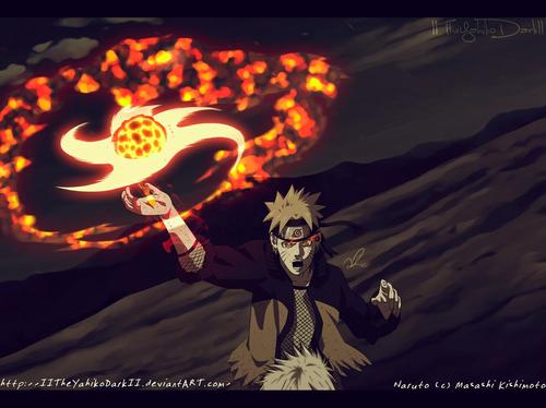 Naruto Uzumaki (shippuuden) fond d'écran called *Naruto Senpo Yoton Rasen Shuriken*