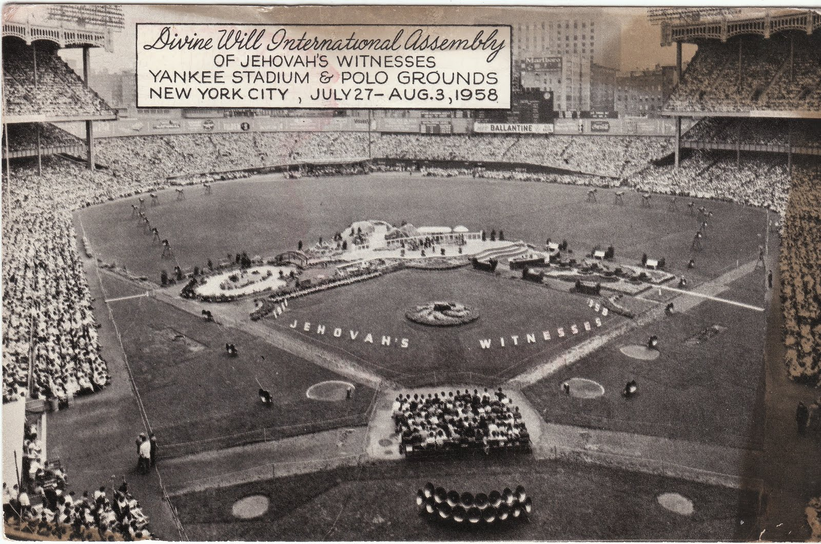 1958 District Convention At Yankee Stadium - Jehovah witnesses Photo