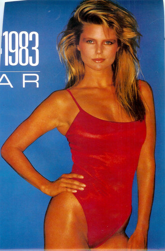 Christie Brinkley wallpaper possibly containing a maillot titled 1993 calendar