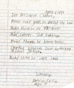 A Personal Letter In Regards To Michael By A Young Fan