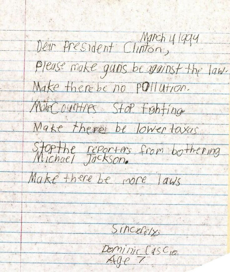 A Personal Letter In Regards To Michael door A Young fan