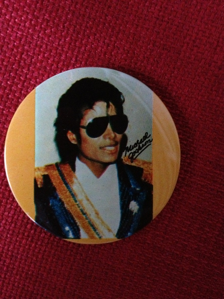 A Vintage Michael Jackson Button