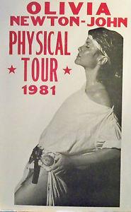 A Vintage Olivia Newton-John konzert Tour Poster