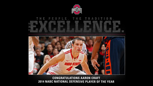 Ohio State विश्वविद्यालय बास्केटबाल, बास्केटबॉल, बास्केट बॉल वॉलपेपर probably containing ऐनीमे entitled AARON CRAFT 2014 NABC NATIONAL DEFENSIVE PLAYER OF THGE साल