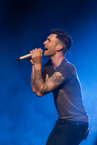 Adam Levine fondo de pantalla probably with a concierto called Adam at Bridgestone Arena Nashville TN