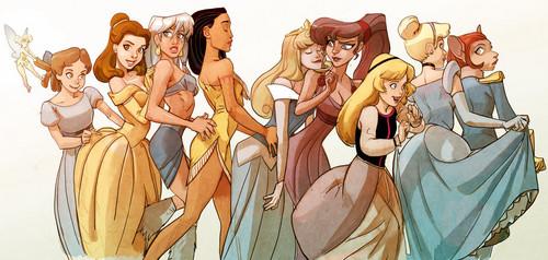 Disney Females wolpeyper entitled All Disney Leading Ladies