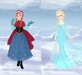Anna and Elsa - disney-princess fan art