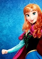 Anna with loose hair - disney-princess photo