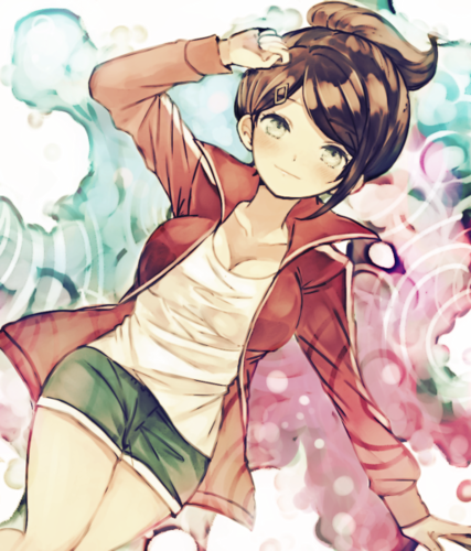Dangan Ronpa wolpeyper containing anime entitled Aoi Asahina