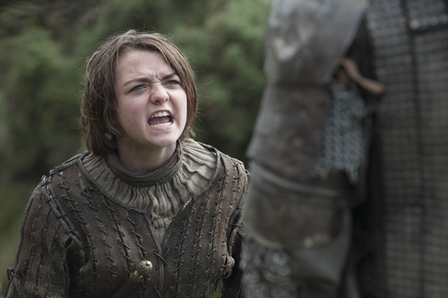 Arya Stark wallpaper possibly with a surcoat titled Arya Stark