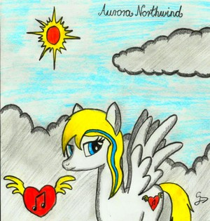 Aurora Northwind portrait - Gift for Alinah_09