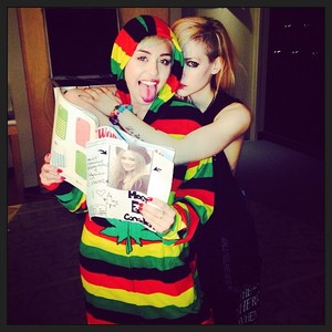 Avril and Miley Cyrus - April Fools