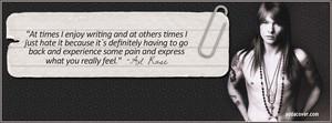 Axl's Quote