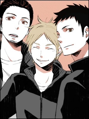 Azumane, Daichi, and Sugawara