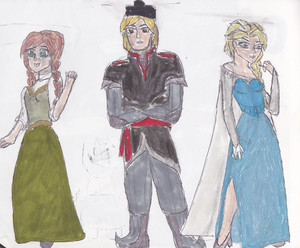 BSFH concept art- Anna, Kristoff, & Elsa