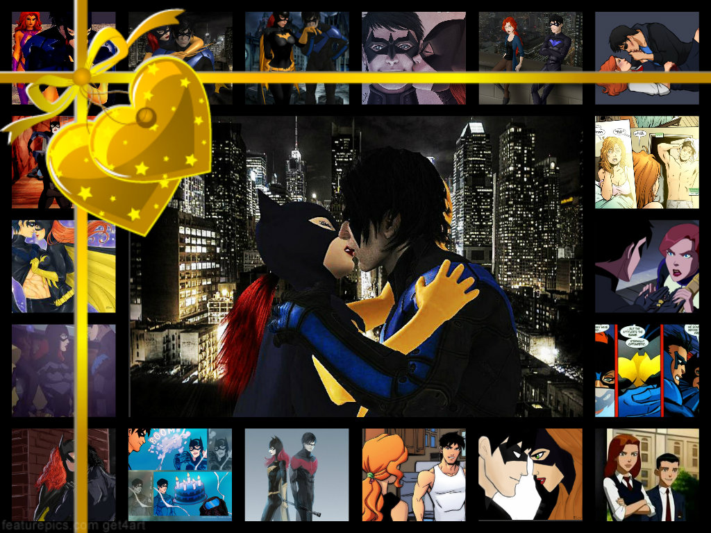 Batgirl and Nightwing cinta Hot