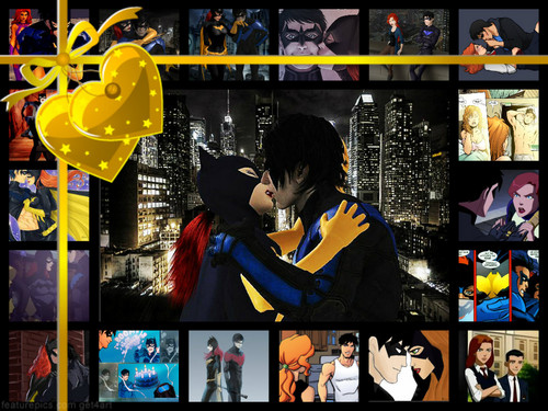Young Justice wallpaper called Batgirl and Nightwing Amore Hot