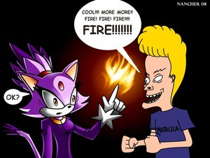 Beavis and Blaze the cat