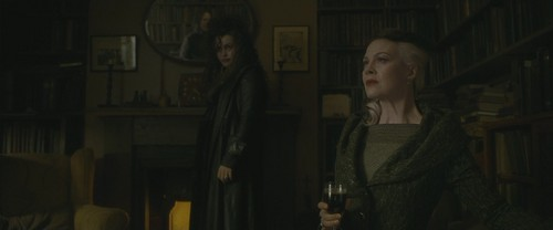 bellatrix lestrange wallpaper probably containing a street, a membaca room, and a business suit entitled Bellatrix Lestrange