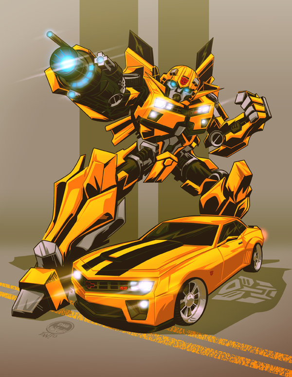 Bumblebee Transformers Cartoon Wallpaper