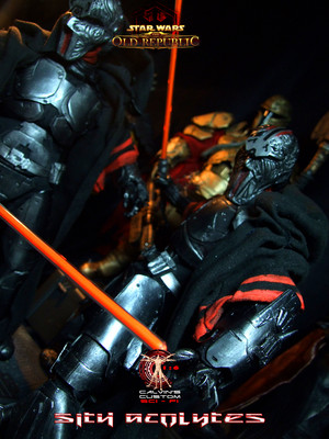 Calvin's Custom One Sixth Scale SWTOR Sith Acolyte figures