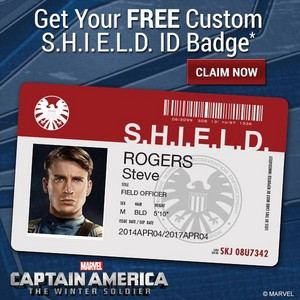 Captain America: The Winter Soldier S.H.I.E.L.D. ID Badge