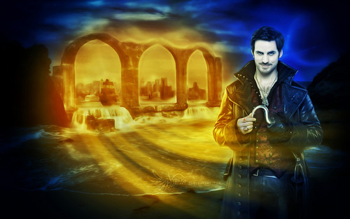 "Once Upon A Time wallpaper with a street entitled Captain Killian ""Hook"" Jones"