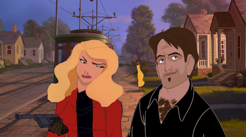 Once Upon A Time karatasi la kupamba ukuta titled Captain swan Animated
