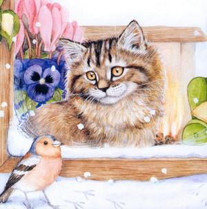 ネコ ファン art