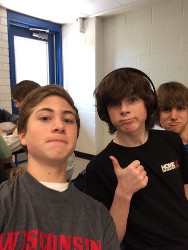 Chandler Riggs Hintergrund possibly with a jersey, a leisure wear, and a polo hemd, shirt called Chandler and Gary today