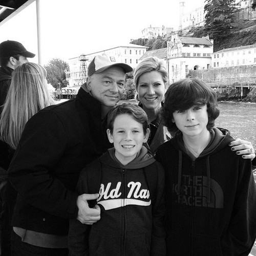 Chandler Riggs wallpaper with a street entitled Chandler and his family ❤