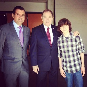 Chandler and the Governor of Utah today at the FanX convention in Salt Lake City