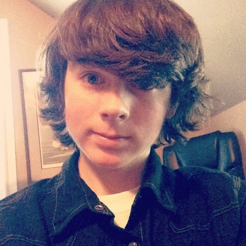 Chandler Riggs Hintergrund possibly containing a portrait entitled Chandler selfie :)