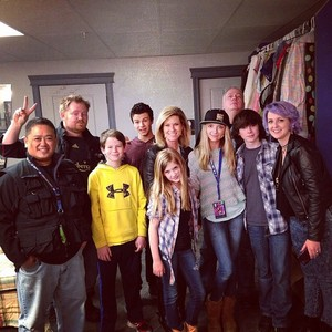 Chandler with his family, Hana, Kyla and a friend with the guys from Ghost Hunters International