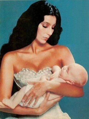 Cher And Baby Son, Elijah