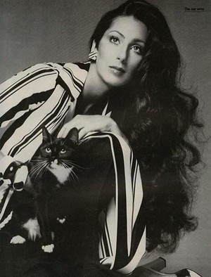 Cher With A Cat