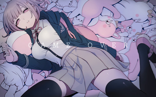 Dangan Ronpa wallpaper containing animê entitled Chiaki Nanami