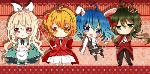 Mekaku City Actors wallpaper probably containing anime titled chibi Chara