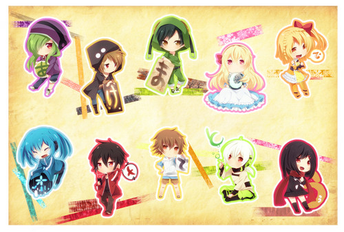 Mekaku City Actors wallpaper possibly with anime titled chibi Dan!!