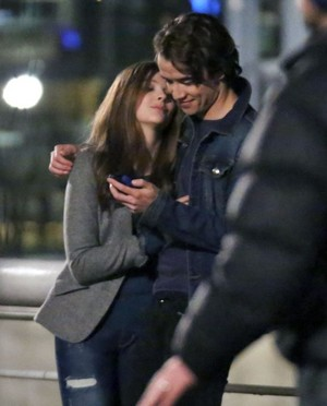 Chloë Grace Moretz and Jamie Blackley on Set of If I Stay