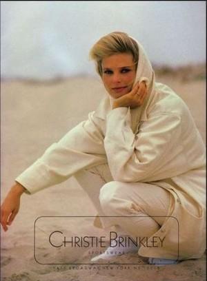 Christie Brinkley Sportswear ad