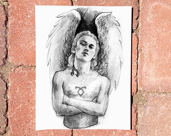 Clary's drawing of Jace