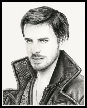 Colin as Hook drawing por Jenny Jenkins