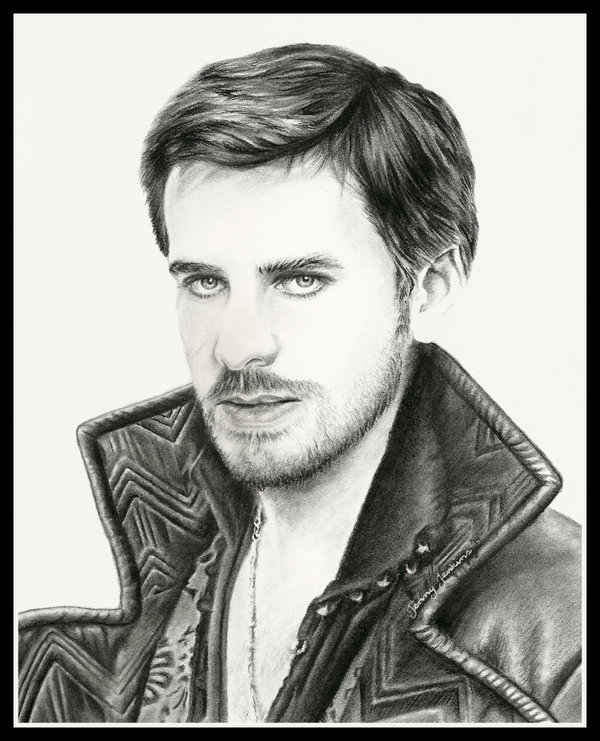 Colin as Hook drawing by Jenny Jenkins