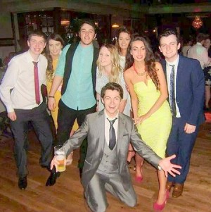 Craic with Friends n family at Emmetts wedding
