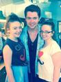 Damian with irish fans while at home in Derry