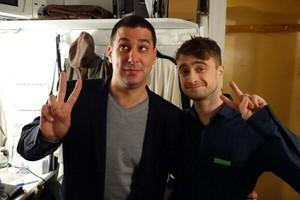 Daniel Radcliffe With Jake Adelstein (Fb.com/DanieljacobRadcliffeFanClub)