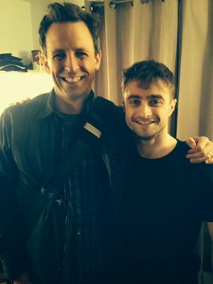 Daniel Radcliffe With Seth Meyers (Fb.com/DanieljacobRadcliffeFanClub)