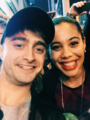 Daniel Radcliffe with a fan , At Cort Theatre (Fb.com/DanieljacobRadcliffeFanClub) - daniel-radcliffe photo